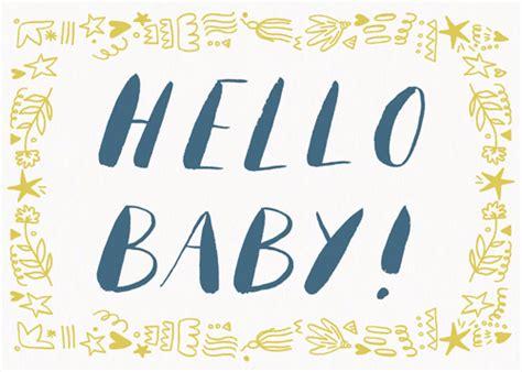 hello baby hello baby congratulations card papier