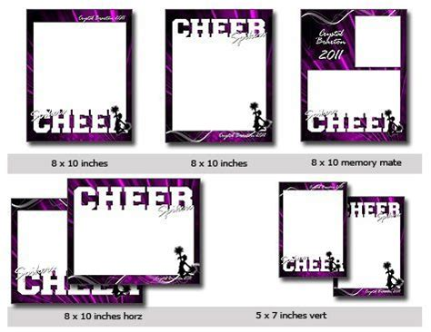 cheer card template sports cheer cutouts vol 15 photoshop elements template
