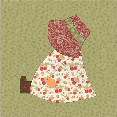 Sun Bonnet Sue Quilt Pattern by Sunbonnet Sue Sitting Quilt Block By Quiltingbyjacqu Craftsy