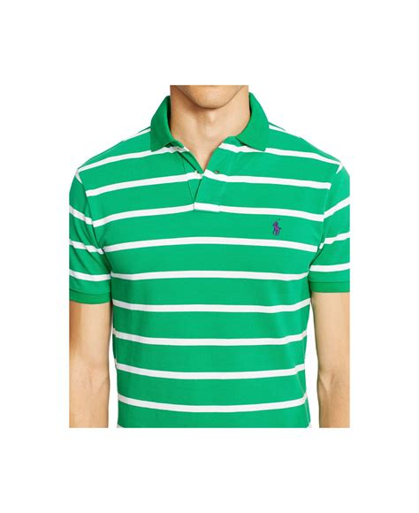 Classic Striped Shirts by Polo Ralph S Classic Fit Striped Mesh Polo