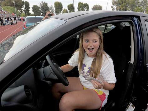 Nissan Of Valencia Car Giveaway - with the turn of a key valencia student wins new car