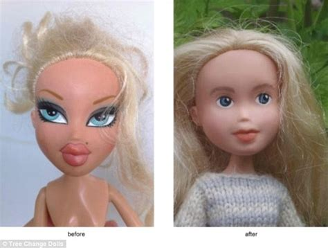 design doll to look like you bratz dolls given a makeunder by mother daily mail online