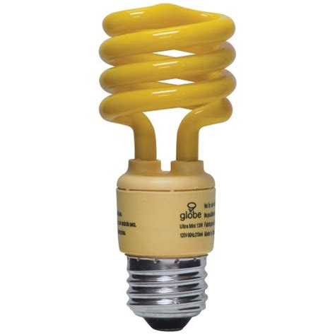 bug repellent light bulbs best buy on globe 13 watt ultra mini bug repellent