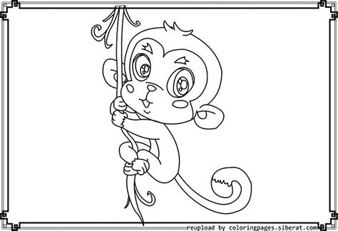 cute monkey coloring pages printable cute baby monkey coloring pages printables coloring home