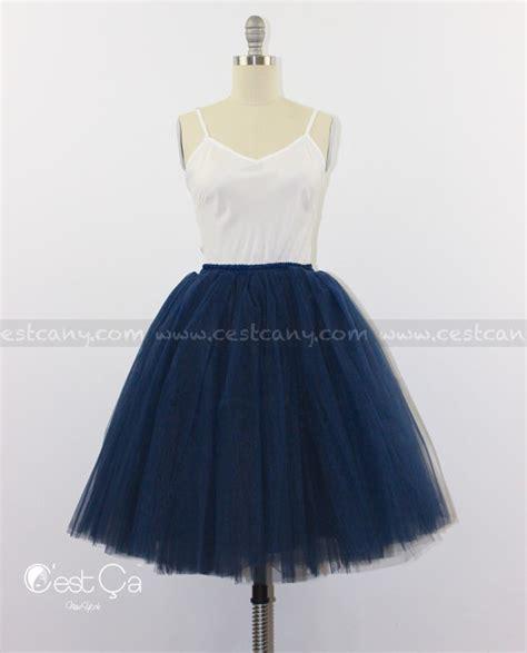 ciara navy blue tulle skirt 7 layers tutu