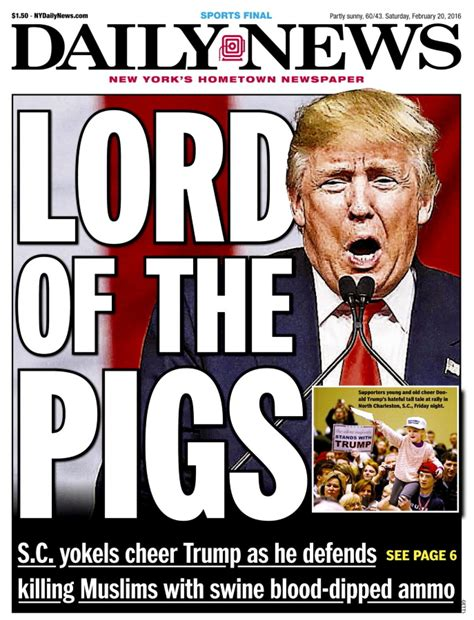 Cover Call In Nyc by New York Daily News Columnist We Didn T Create Donald