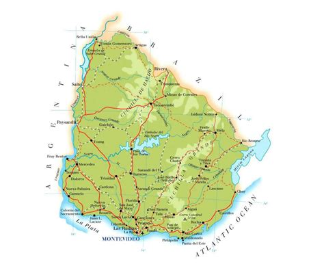 map of uruguay with cities maps of uruguay detailed map of uruguay in