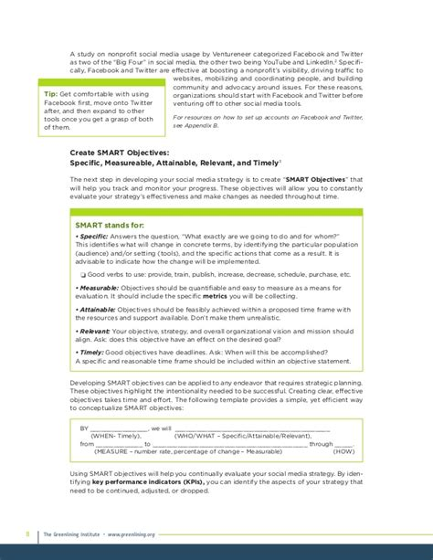 nonprofit social media strategy template 100 nonprofit social media strategy template best 25