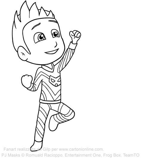 catboy pj masks coloring pages pjmasks connor catboy dibujos para colorear dibujalandia