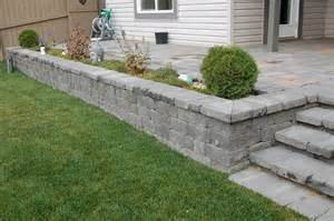 patio retaining wall cambridge cotswold 171 western landscape