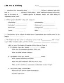 life has a history 6th 9th grade worksheet lesson planet