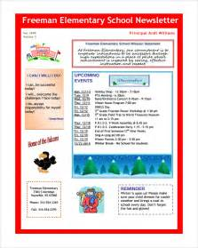 school newsletter templates sle school newsletter template 8 documents