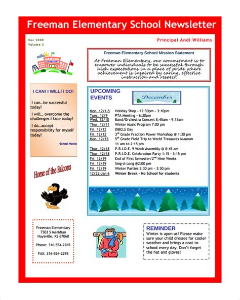 school newsletters templates sle school newsletter template 8 documents