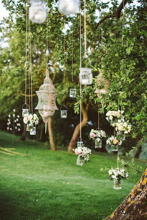 dekoideen gartenparty laternen hängend kreative