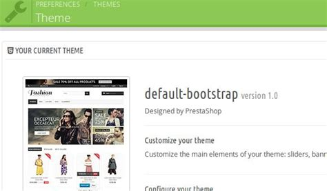 themes default bootstrap prestashop v1 6 0 7 identifying custom theme as default