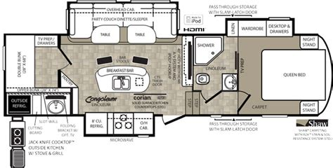 fifth wheel floor plans bunkhouse 1000 images about rv s and stuff on pinterest fifth