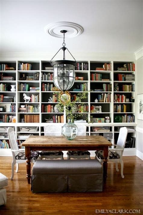 Dining Room Into A Library Decorology Diningroom Library Dining Rooms