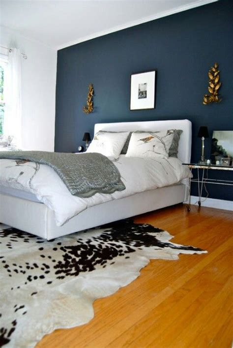 midnight blue feature wall diy home ideas pinterest
