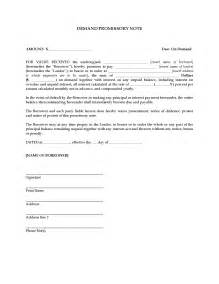 demand promissory note forms and business