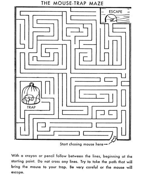 Printable Reading Mazes | maze activity sheet mouse trap channel maze mazes
