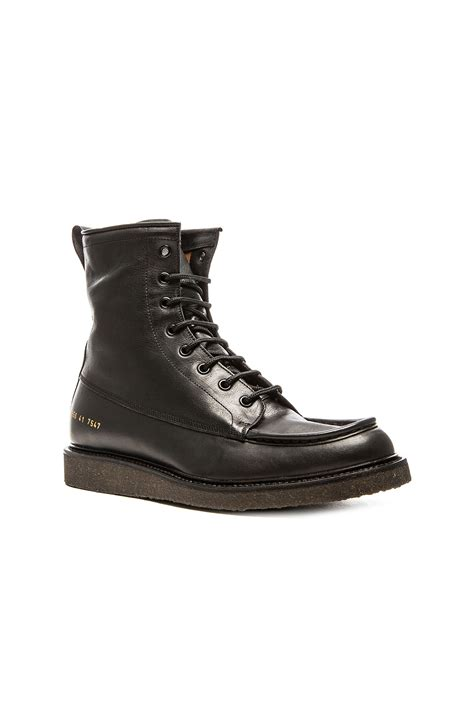 mechanic boots common projects mechanic s boot in black for lyst