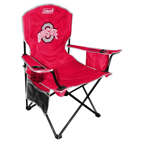 coleman ncaa ohio state buckeyes folding cooler chair with