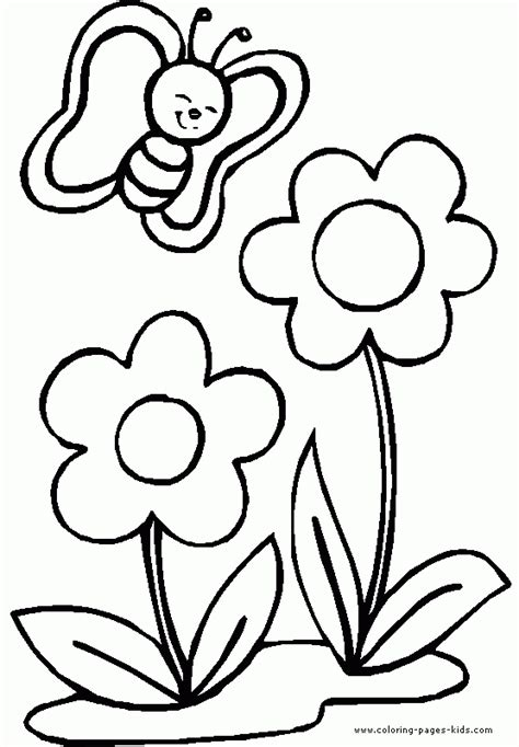 coloring pages of flowers for toddlers butterfly and flower coloring pages for kids coloring page