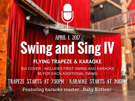 swing kids sing sing sing swing and sing vi trapeze and karaoke with baby ketten