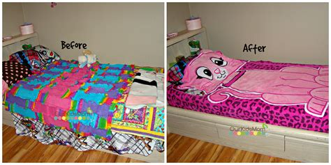 zippy bed kids can make their bed easily with zippy sack