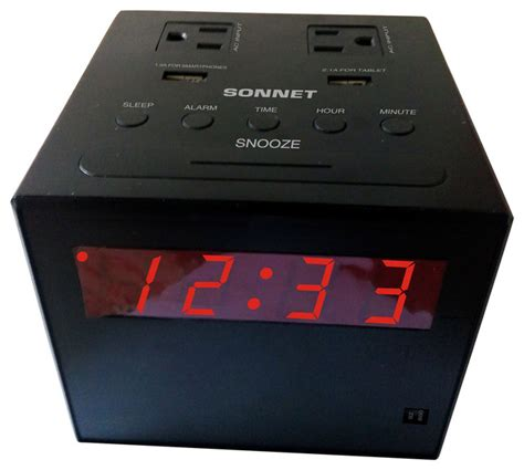 charging station clock radio contemporary alarm clocks