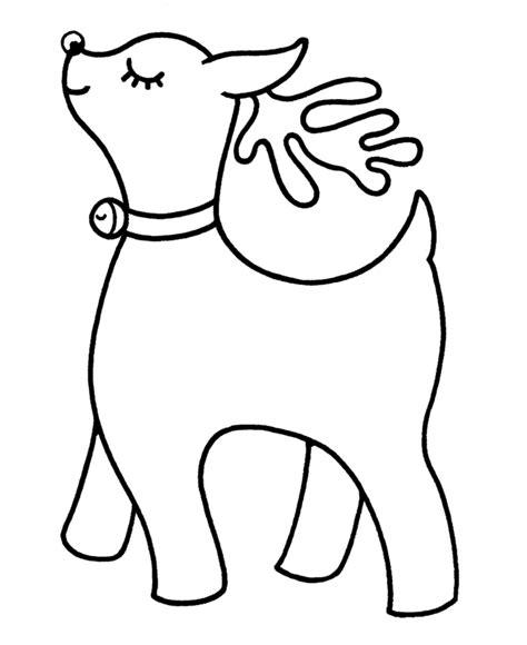 bluebonkers santa reindeer coloring pages 9 cute pre reindeer color
