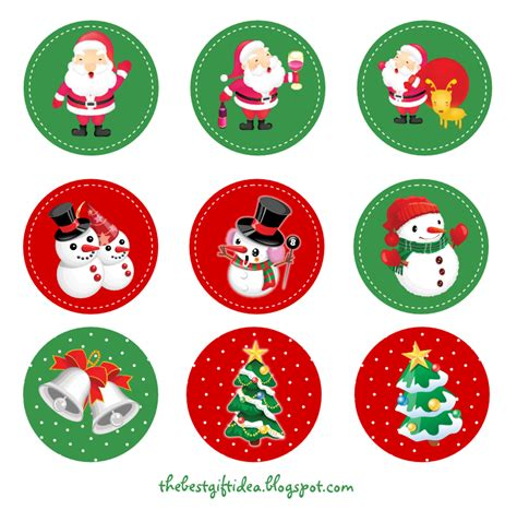 printable christmas stickers free printable santa claus reindeer cupcake topper free