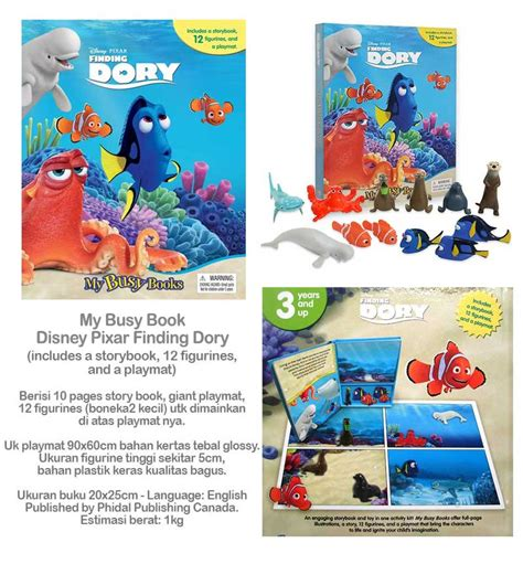 Buku Anak Import My Bussy Book Around The World New York jual beli my busy book disney pixar finding dory includes