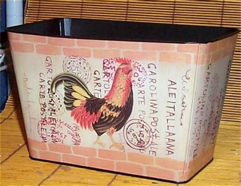 Chicken Home Decor by Rooster Tin Flower Pot Rooster Country Farm Home Decor Ebay