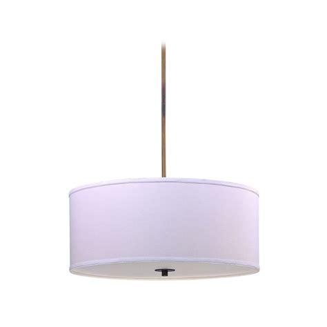 Large White Drum Pendant Light Large Bronze Drum Pendant Light With White Shade Dcl 6528 604 Sh7517 Kit Destination Lighting