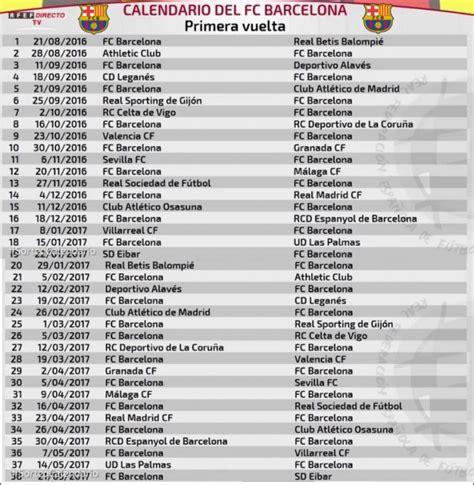Calendrier Liga Fc Barcelone Calendrier Liga 2016 2017 De Stephane055