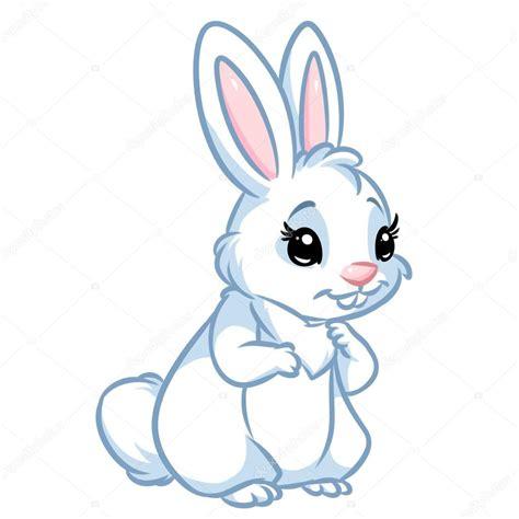 imagenes el blanco dibujos animados de conejo blanco foto de stock