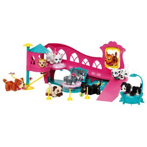 puppy parade pet parade coffret aire de jeu giochi king jouet figurines et cartes 224