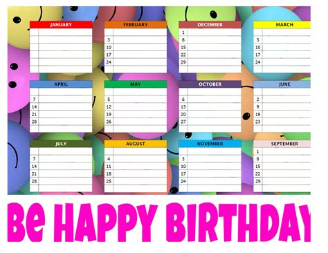 printable birthday chart template classroom birthday chart cake ideas and designs