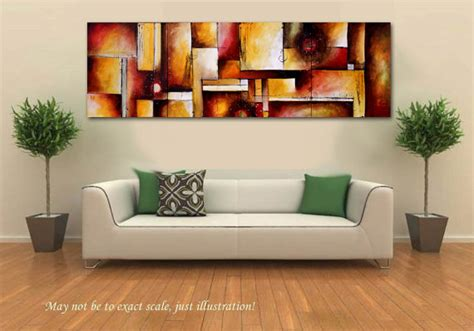 original abstract painting sofa size by