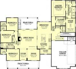 farmhouse style house plan 4 beds 2 5 baths 2686 sq ft