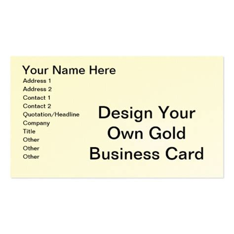 Make Your Own Card Template