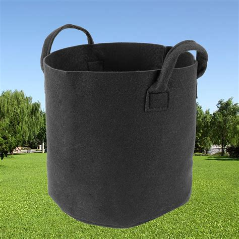 Fabric Planter Bag by 5x Fabric Grow Pots Planter Bags Smart Plant Root Aeration Container Black Ebay