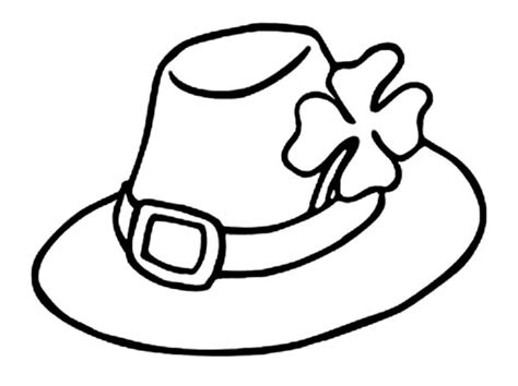 coloring book hat leprechauns hat and a four leaf clovers coloring page
