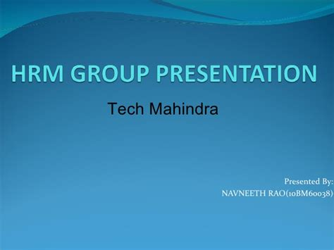 tech mahindra webmail link how hr organization works quot a analysis of tech mahindra quot