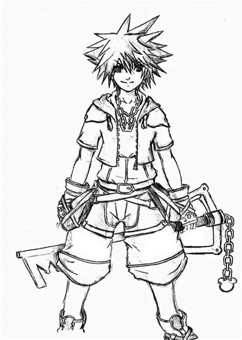 kingdom hearts coloring pages sora kingdom hearts coloring pages bestofcoloring com