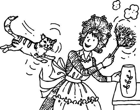 amelia bedelia coloring pages images amelia bedelia and cat coloring page wecoloringpage