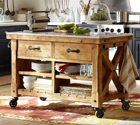 movable kitchen island ideas farmhouse kitchen island with wheels home pinterest