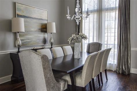 gray dining room transitional dining room ej interiors