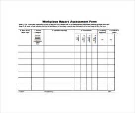 formal risk assessment template sle hazard assessment template 8 free documents in
